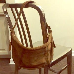 Vintage tan suede bag